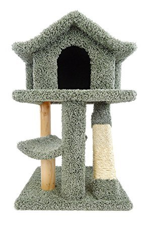 New Cat Condos Premier Mini Cat Pagoda House, Green