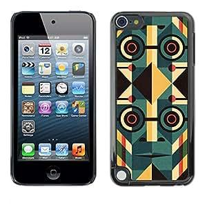 [Neutron-Star] Snap-on Series Teléfono Carcasa Funda Case Caso para Apple iPod Touch 5 [Deco Cara Gafas Resumen Orden 1984]