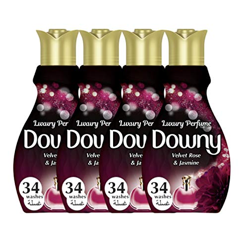 Downy Luxury Perfume Collection Concentrate Fabric Softener Feel Elegant, 4 x 1.83 Litre