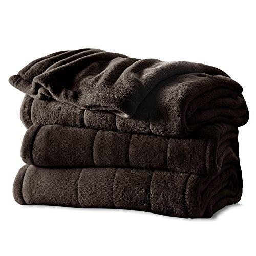 Sunbeam Fleece Heated Throw Blanket, Walnut