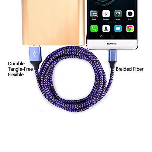 USB Type C Cable, Kakaly 5-Pack 6FT Charge Cable, Charging Cord, Nylon Braided USB C Cable to Charging and Syncing Cord Charging for USB C Smartphones Tablets Laptops and More USB C Devices by Kakaly (Image #5)