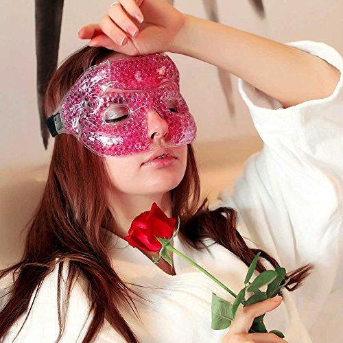 iBest - Pink Cold and Hot Therapy Gel, Eye Mask, Sleep Mask, Sleeping Mask for Women, Hot Cold Pack (Yellow) ()