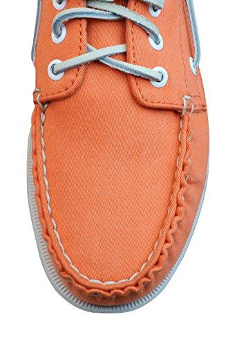 Sperry Top Sider A/O 3 Eye Canvas Mens Boat / Deck Shoes - Orange Orange FBXr5wH