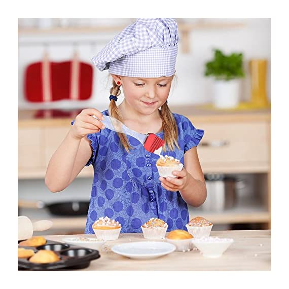 """STONEKAE Silicone Baking Mat, Thicker Non-Slip Board with Measurements for Rolling Dough, Fondant, Pie, Cookie.16""""x24"""" Large Non-Stick + Pastry Brush 5 COST EFFECTIVE AND HEALTHY» 100% food grade silicone, Don't worry about the food made on it will be harmful to the body.It is safe to use at a temperature of -45 degrees Fahrenheit to 450 degrees Fahrenheit and does not produce unpleasant chemical smell. DOUBLE THICKNESS,DURABLE AND LASTING» Thickness of the Silicone Pastry Mat is 0.075 inch and it's much thicker and durable. so it is very hard to crinkle and move as you roll out the dough.The mat is designed to be 16*24inch.It has a larger area to knead, make biscuits, make pizza and all related work. With a brush NON-STICK & EASY TO CLEAN» This mat is made of food grade silicone,so you will enjoy the best NON-STICK baking mat.No more scrubbing! Easy to wipe clean with warm soapy water and store it rolled in a drawer. Also dishwasher safe.When you don't use it, you can roll it up and store it."""