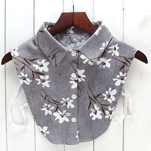 Women New Blouse False Collar Clothes Shirt Detachable Collars Lace White Black Fake Collar Artifact ()