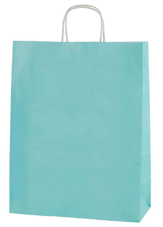 Amarillo con Asas Retorcidas Thepaperbagstore 20 Bolsas De Papel De Colores Reciclables Y Reutilizables Mediana 250x110x310mm