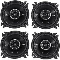 4) Kicker 43DSC44 D-Series 4 240 Watt 4-Ohm 2-Way Car Audio Coaxial Speakers