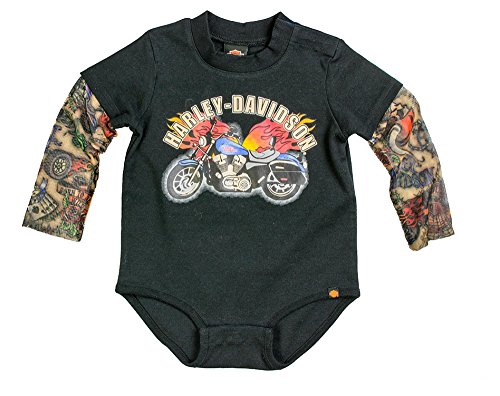 Harley Davidson Boys Creeper Tattoo Sleeves