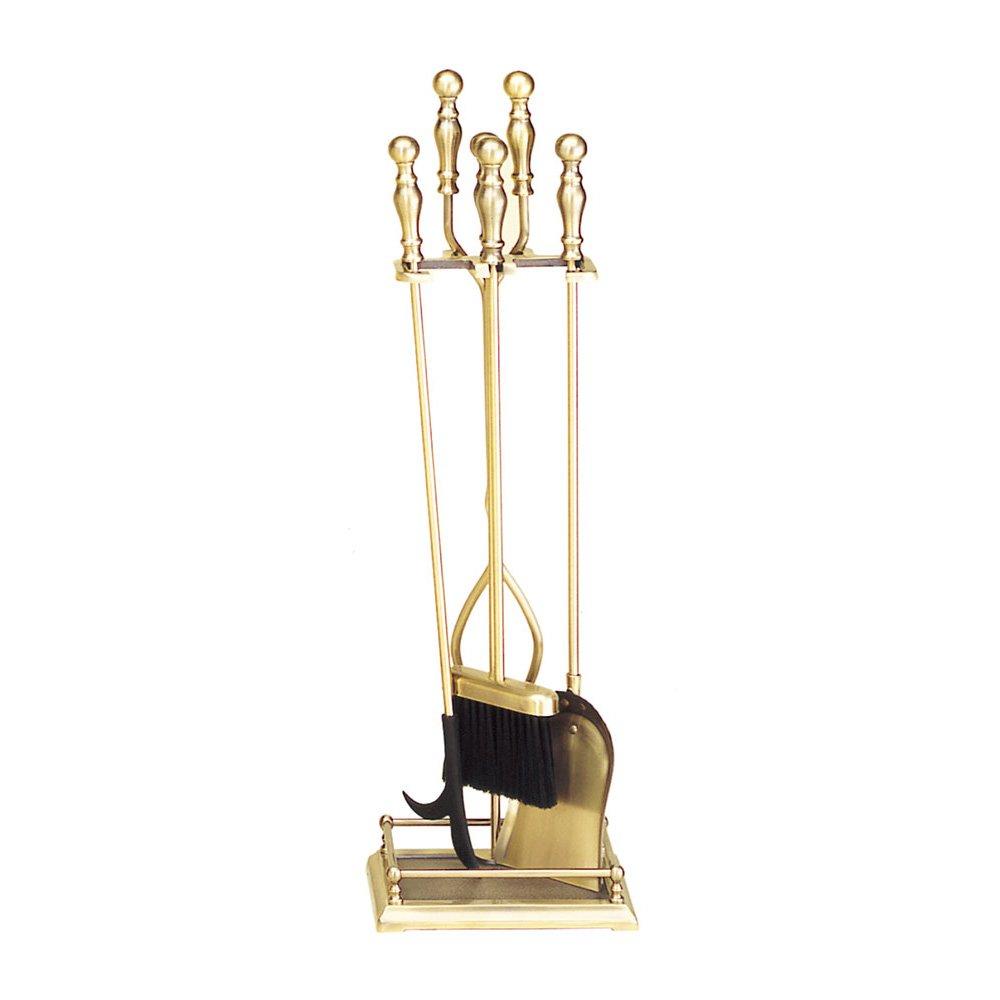 Minuteman International Oxford 5-piece Fireplace Tool Set, Antique Brass
