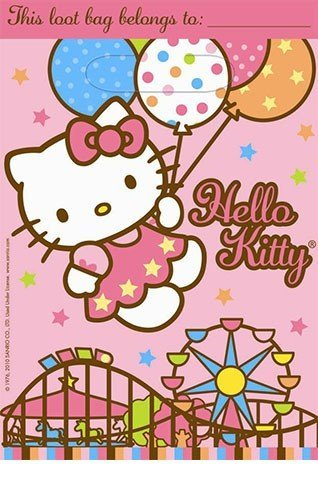 8 Hello Kitty Balloon Dreams Party Loot Bags