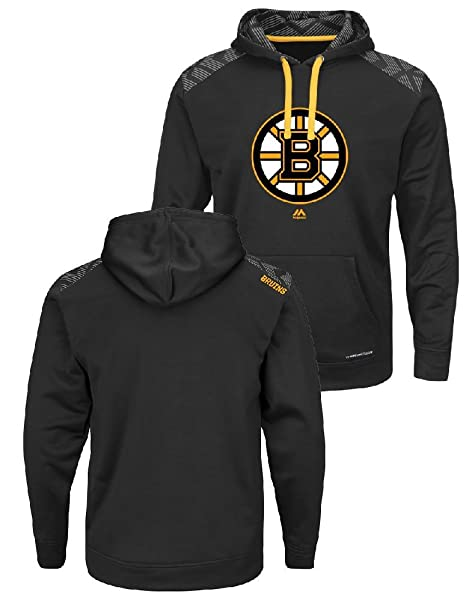 Majestic NHL Boston Bruins Black Armor Pullover Synthetic Thermabase Hoodie  (Small) db1dc3899c2c