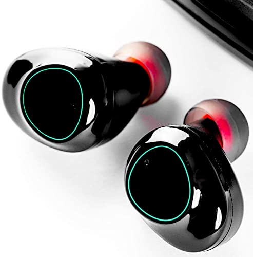 True Wireless Earbuds, Zamkol Bluetooth Earbuds with 5D Aptx Loud Sound, Stereo Bass, IPX5 Waterproof Workout Low Latency Black in Ear Wireless Earphone with Micphone, Share Mode for Android, iPhone