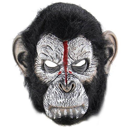 BESTOYARD Halloween Scary Mask Man Ape Mask Halloween Costume Party Props Latex Masks Cosplay Mask Head -