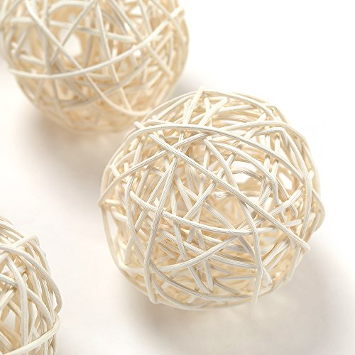 Outdoor Wicker Ball Lights in US - 9