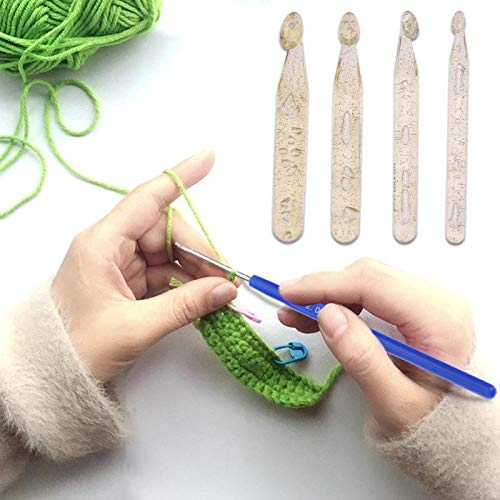 Needles - 10pcs Set 0.6 2.0mm Blue Plastic Handle Aluminium Crochet Hooks Knitting Needles Weave Craft With - Professional Large Cushion Needles Betweens Stitch Holder Class Threader Hair