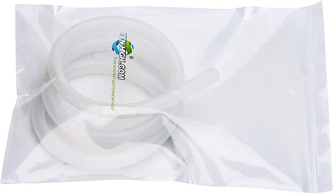 TEN-HIGH Tube en Silicone Flexible R/ésistance aux haute et basse temp/ératures Haute r/ésistance /à la d/échirure Anti-vieillissement Tuyau deau air de 50 m/ètre 25 * 31 mm /épaisseur de 3 mm