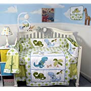SOHO Dinosaur Crib Nursery Bedding Set 13 pcs with FREE BABY CARRIER (limited time offer only!)