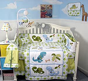 Amazon Com Soho Dinosaur Crib Nursery Bedding Set 14 Pcs
