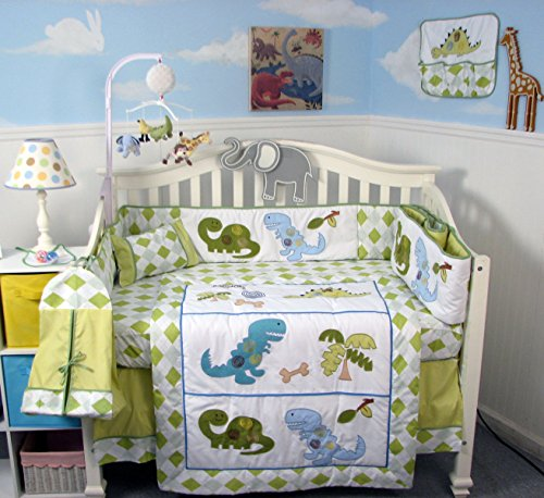 SOHO Dinosaur Crib Nursery Bedding Set 13 pcs with FREE BABY CARRIER (limited time offer only!) by SoHo Designs