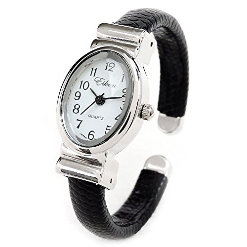 Oval Black Face Watch - 1