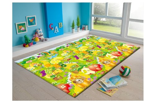 - MyLine Baby PlayMat_Fruit Garden/Train ABC-Extra Thick