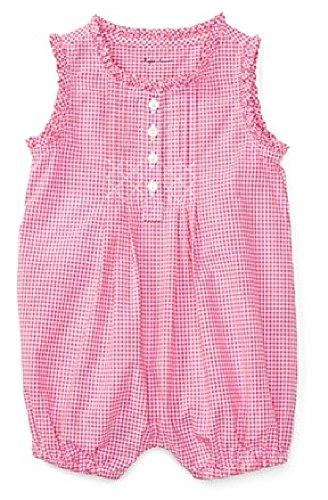 Ralph Lauren Baby Girl Gingham Cotton Shortall Pink/White (3 Months) ()