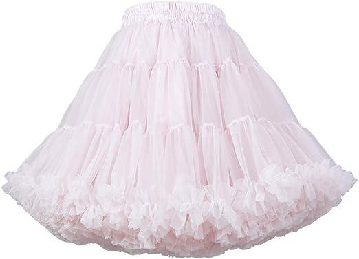 Vxhohdoxs - Falda tutú de tul para mujer y niña Small rosa: Amazon ...