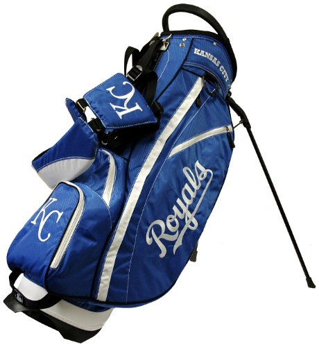 Team Golf MLB Kansas City Royals Fairway Golf Stand Bag, Lightweight, 14-way Top, Spring Action Stand, Insulated Cooler Pocket, Padded Strap, Umbrella Holder & Removable Rain Hood