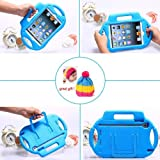 Kid's Light Weight EVA Drop-Proof iPad Protective Case with Handles (for iPad Mini) [Previous Generation] + Universal Stylus Pen with fashion hat gift for children, Great Gift ! (Bluey)