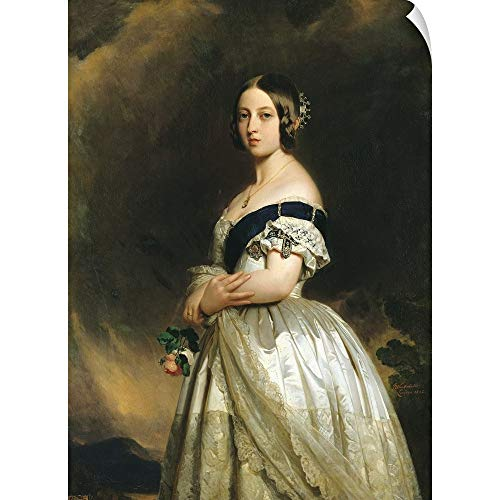 "CANVAS ON DEMAND Franz Xaver Winterhalter Wall Peel Wall Art Print Entitled Queen Victoria (1837-1901) 1842 44""x60"""