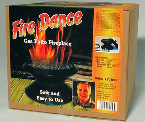 Patio Heaters Ceramic (Fire Dancer Portable Gas Campfire And/or Patio Fireplace with Ceramic Log Kit)