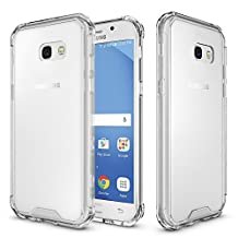 "Samsung galaxy A5 2017 Case, AOOBOX Hybrid Shockproof Slim TPU Bumper with Clear Transparent Hard Back Case Cover for Galaxy A5 (2017) A520 5.2"" Clear"