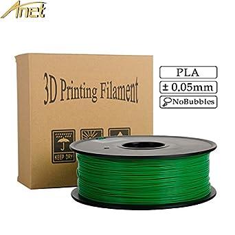 Filamento de impresora 3D Anet PLA de 1,75 mm, precisión ...