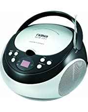 naxa Electronics NPB-251BK Portable CD Player with AM/FM Stereo Radio, Black, 9.50in. x 9.00in. x 6.40in.