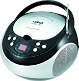 naxa Electronics NPB-251BK Portable CD Player with AM/FM Stereo Radio, Black