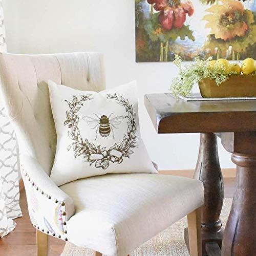 Queen Bee Pillow/16x16 Pillow//Custom Pillows//Housewarming Gifts//Pillow Cover//Throw Pillow/French Pillow Decor/French Bee Pillow -