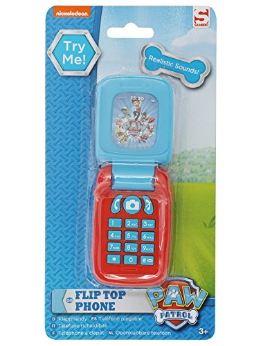 Paw Patrol Blue And Red Toy Character Print Sound Effect Flip Top Phone