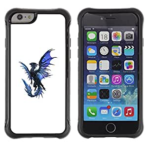 Be-Star único patrón Impacto Shock - Absorción y Anti-Arañazos Funda Carcasa Case Bumper Para Apple iPhone 6 Plus(5.5 inches)( Dragon Blue Black Flying Mythical Creature )