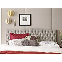 Elle Decor FF16062H Tufted Headboard, King/California King, Beige