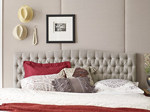 Amazon Com Elle Decor King Tufted Headboard In Beige
