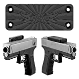 powerful gun - TANZOX Magnetic Gun Mount for Home, Office, Car, Desk, Wall, Suited for Pistol, Revolver, Air Gun, Shotgun - Rubber Coated 35 Lbs Rated