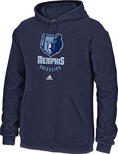 NBA Memphis Grizzlies Men's Full Primary Logo Fleece Hoodie, Medium, Navy