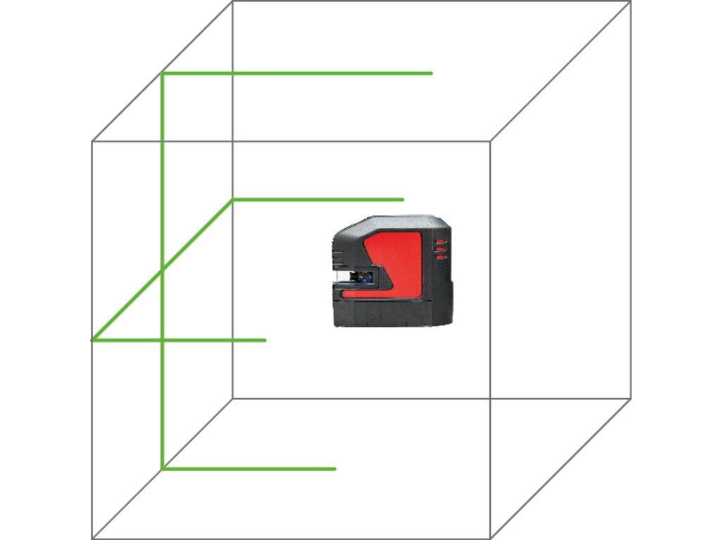 Nivelador l/áser Nivel de l/ínea, Negro, Rojo, 1//4,5//8, IP54, 35 m, 0,2 mm//m Leica Lino L2G Nivel de l/ínea 35 m