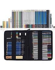 Lápices de Dibujo del Artista y Bosquejo Material de dibujo Set Lápices Profesional Carbón Grafito Sticks para ArtistaPrincipiante Estudiante Niños y Adultos