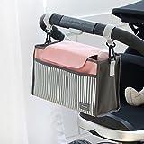 Organizador Pañalera Moderna para Carriola, Accesorio Ideal para Carriola, Pañalera, Multicompartimentos, regalo perfecto para Baby Shower
