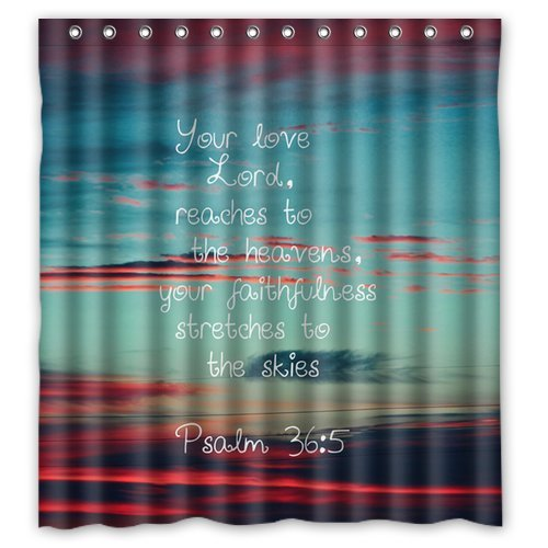 Amazon Custom Unique Design Christian Jesus Bible Verse Waterproof Fabric Shower Curtain Clothing