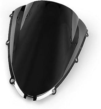 Motorrad Windschutzscheibe Shield Wind Screen Windschutzscheibe Für Kawasaki Ninja Zx6r 636 2005 2008 Zx10r 2006 2007 Schwarz Auto