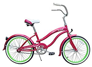 Amazoncom  Micargi Famous For Girl  Pink  Beach Cruiser Bike Bicycle 20