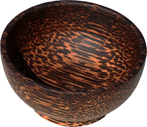 RaanPahMuang Palm Wood Serving or Decorative Bowl Variety of Sizes Thai Crafted, (Pah Accent)