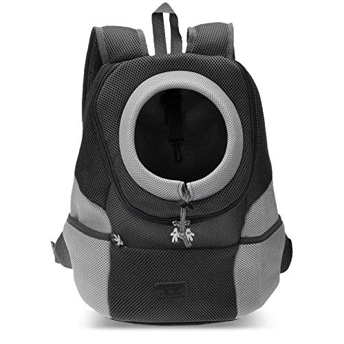 PETCUTE Pet Carrier Backpack Dog Travel Backpack Pet Carrying bag for Small Dogs cats Head Out Design Airline Approved…